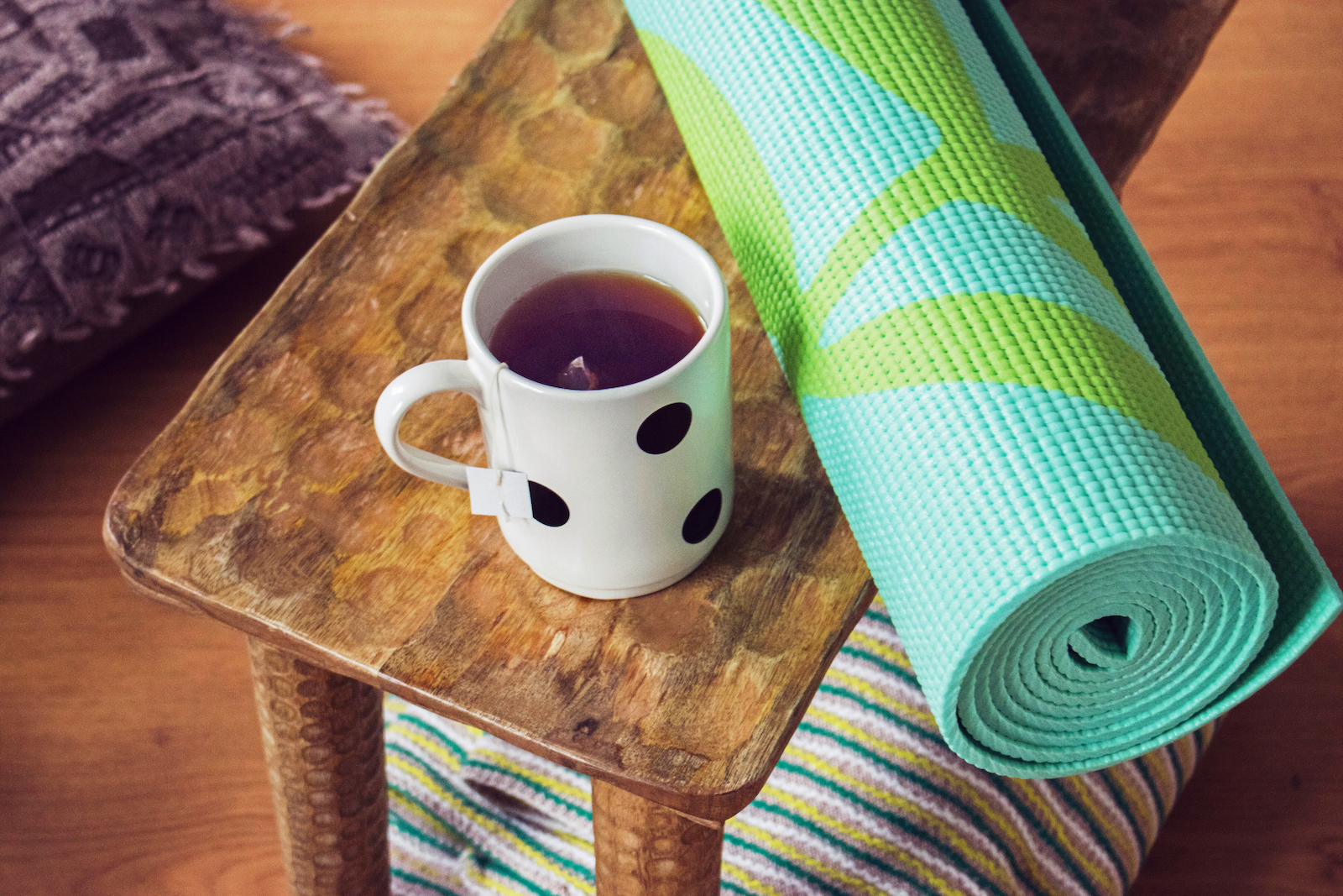 Tea with Workout Mat | Does Weight Loss Tea Really Help You Lose Weight?