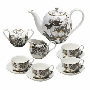 Grace Teaware 11-Piece Porcelain Tea Set