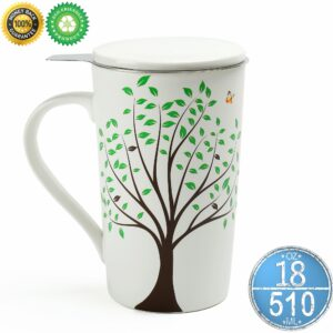 Tea Song - Ceramic Tea-Mug (18 oz)